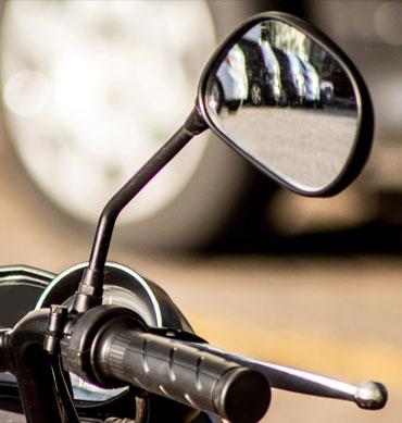 Specchio per moto e adattatore